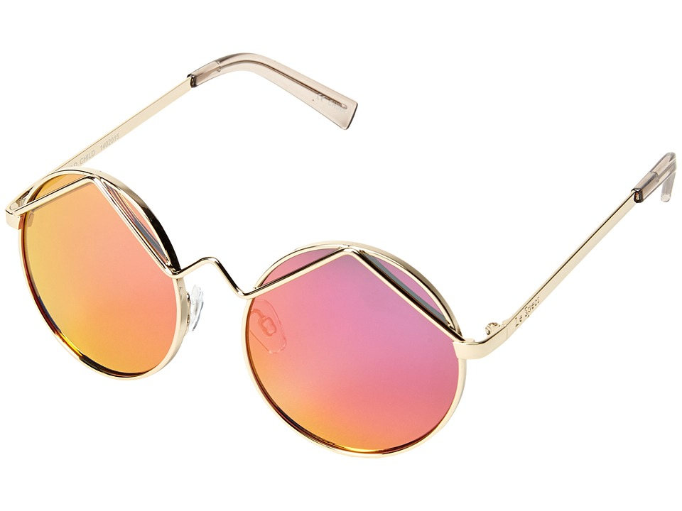 Le Specs - Wild Child (Gold/Pink Revo Mirror) Fashion Sunglasses