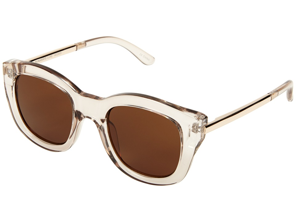 Le Specs - Runaways Luxe (Sand/Brown Mono) Fashion Sunglasses