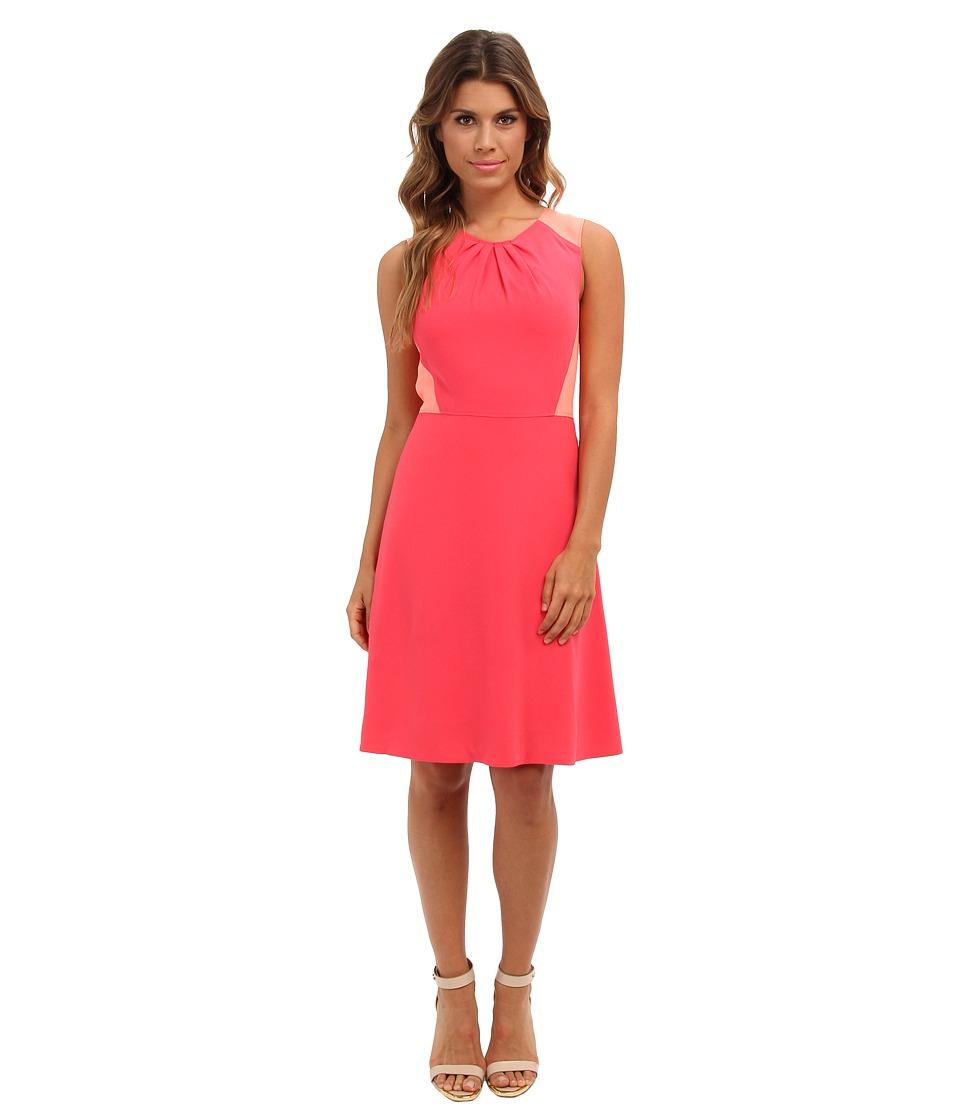Elie Tahari Rosario Dress (Coral/Nectar Glow) Women