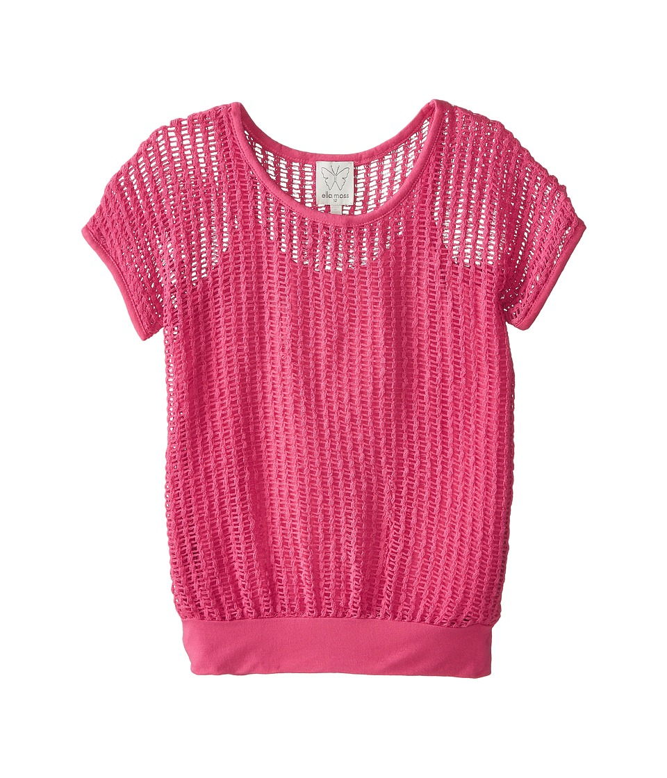Ella Moss Girl - Textured S/S Top and Cami (Big Kids) (Pink) Girl's Clothing