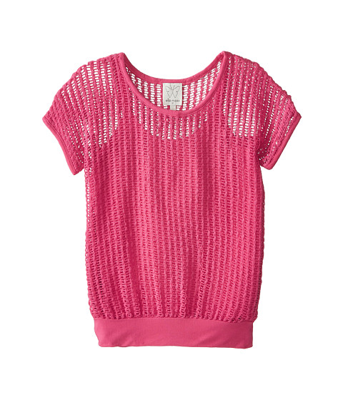 Ella Moss Girl - Textured S/S Top and Cami (Big Kids) (Pink) Girl