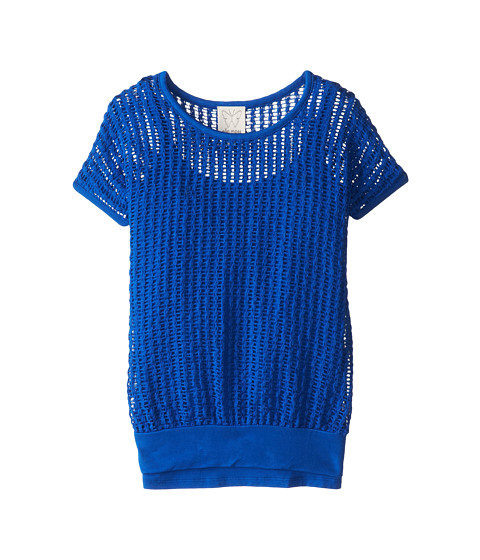 Ella Moss Girl - Textured S/S Top and Cami (Big Kids) (Royal Blue) Girl