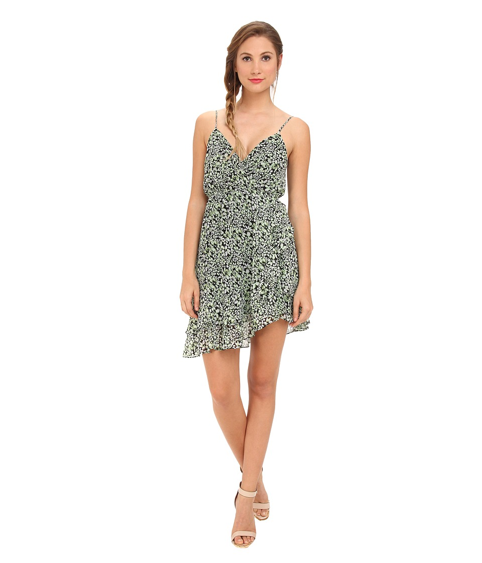 BCBGeneration - Sleeveless Cross Back Asymmetrical Ruffle Cocktail Dress (Jelly Bean Multi) Women