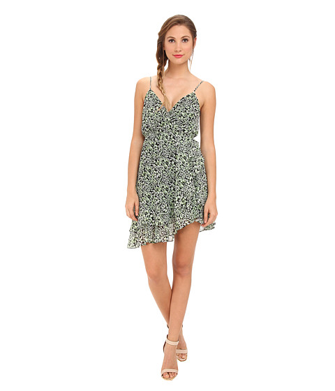BCBGeneration - Sleeveless Cross Back Asymmetrical Ruffle Cocktail Dress (Jelly Bean Multi) Women's Dress
