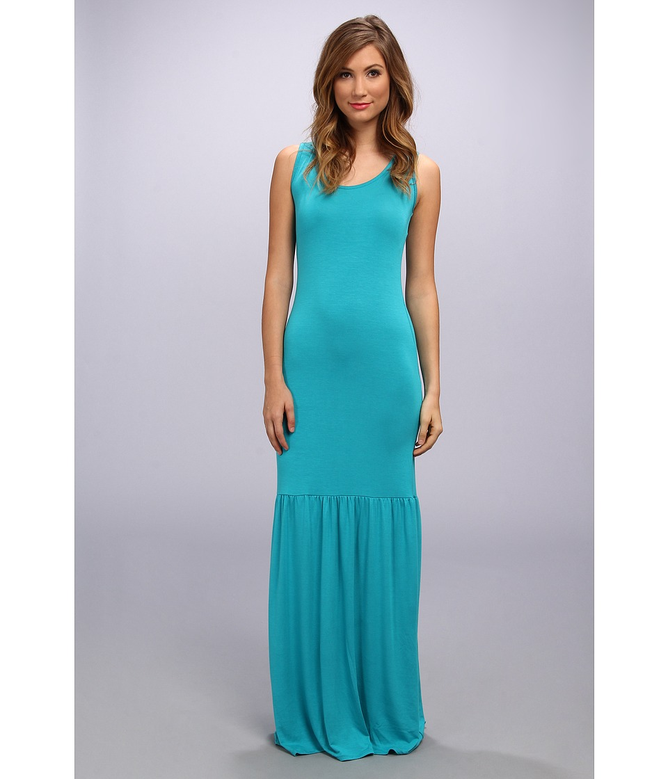 Gabriella Rocha - Scoop Neck Ruffle Bottom Dress (Teal) Women's Dress