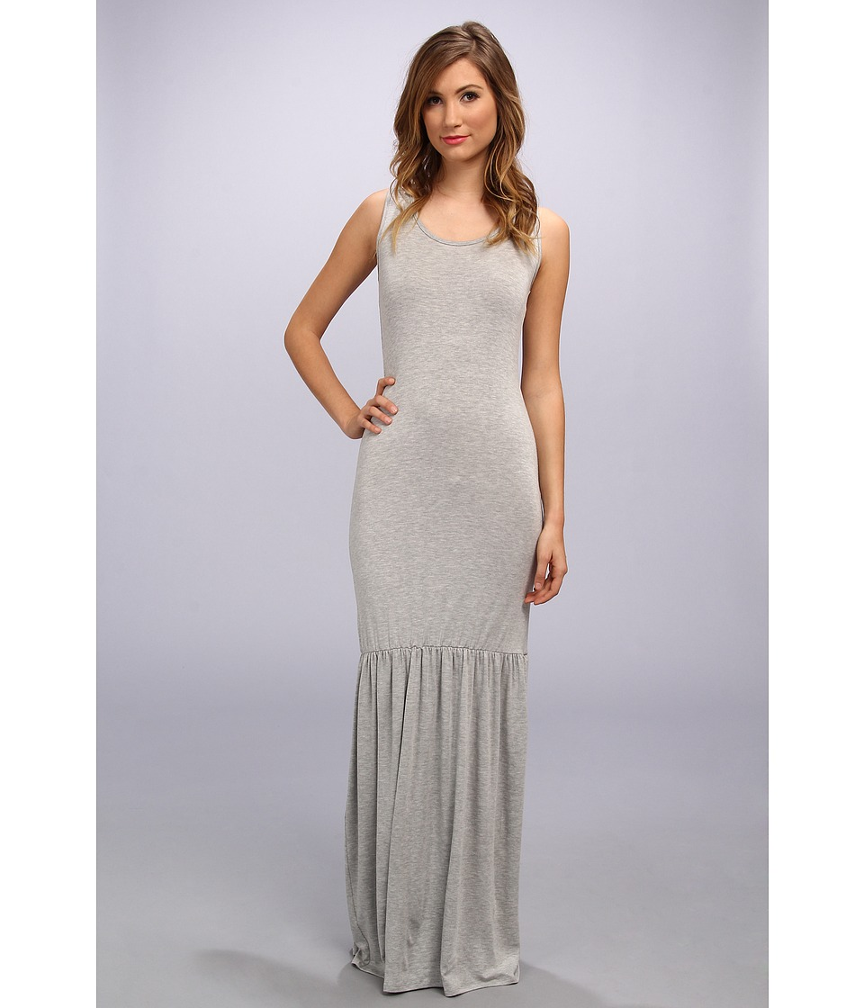 Gabriella Rocha - Scoop Neck Ruffle Bottom Dress (Heather Grey) Women's Dress