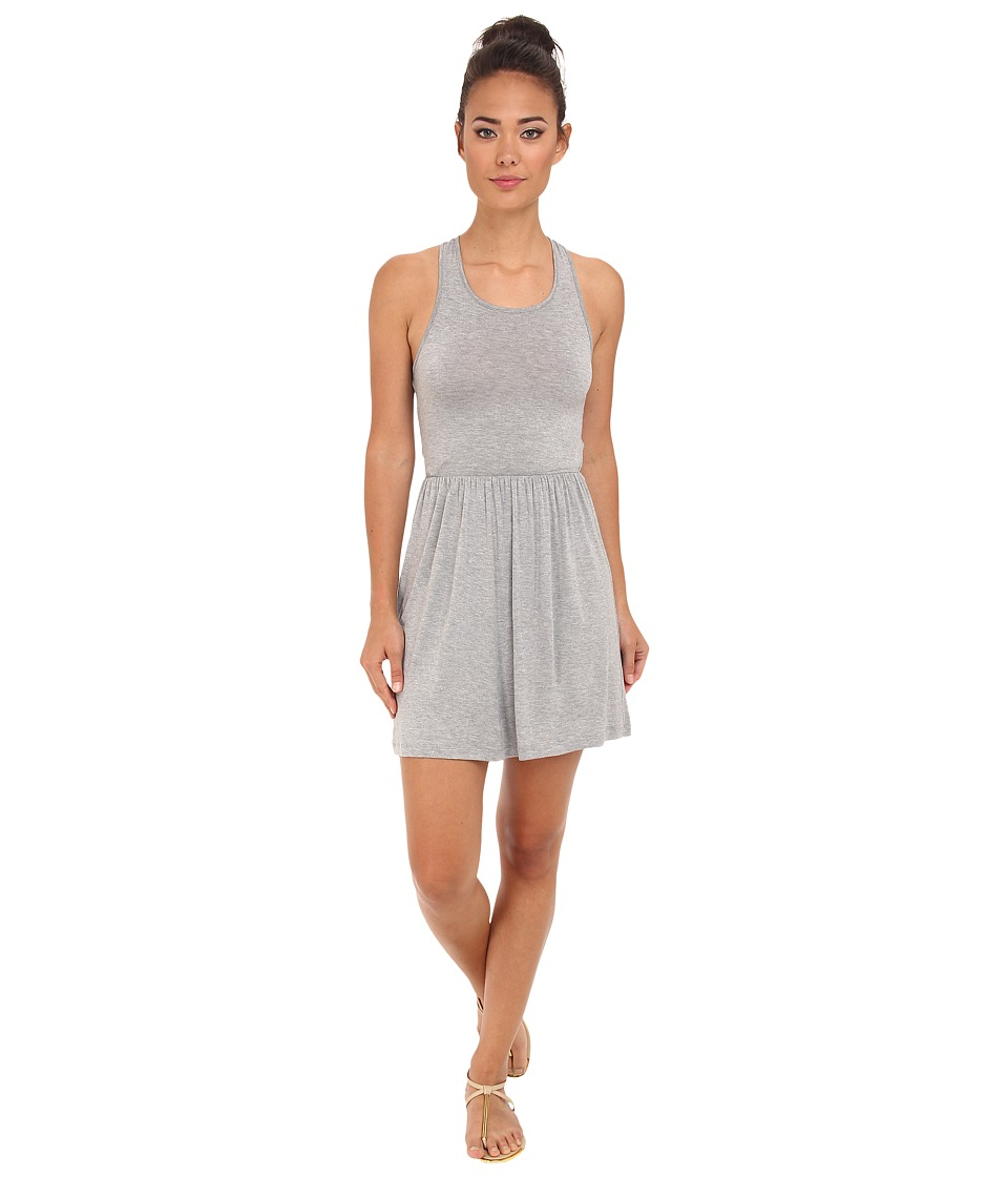 BCBGeneration - Sleeveless Round Neck Casual Shirtdress (Heather Grey) Women's Dress