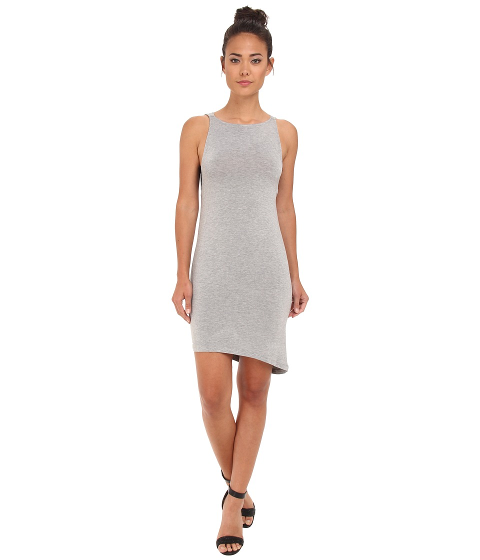 BCBGeneration - Sleeveless Round Neck Cowl Back Casual Dress (Heather Grey) Women's Dress
