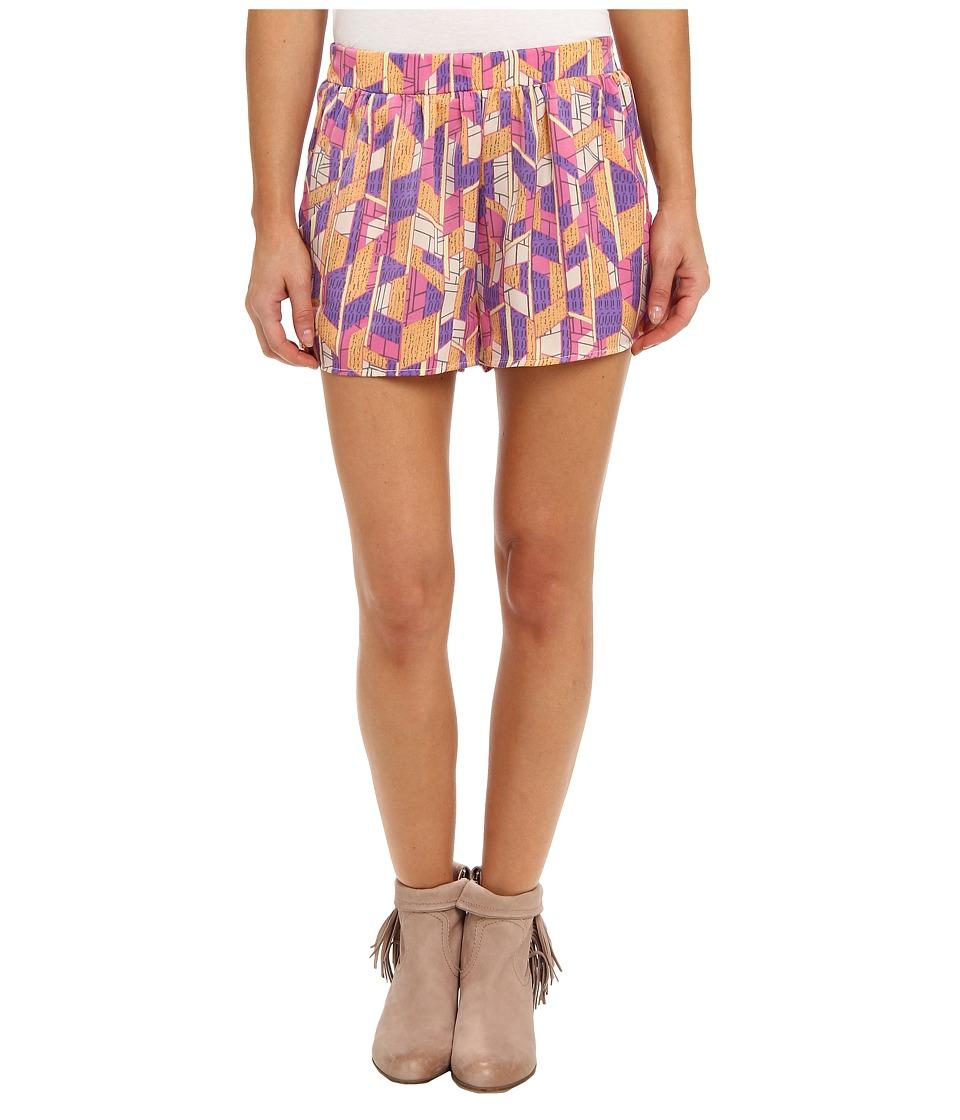 Brigitte Bailey - Allison High Waisted Shorts (Pink) Women's Shorts