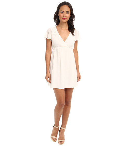 BCBGeneration - S/S V-Neck Babydoll Cocktail Dress (Soft Pink) Women