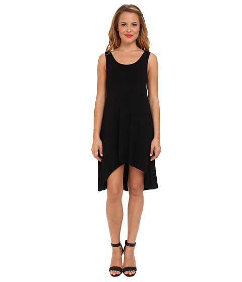 Culture Phit - Scoop Neck Hi-Lo Dress (Black) Women's Dress