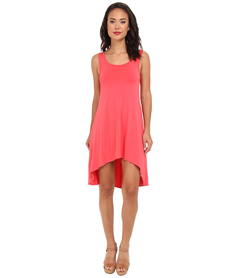 Culture Phit - Scoop Neck Hi-Lo Dress (Coral) Women