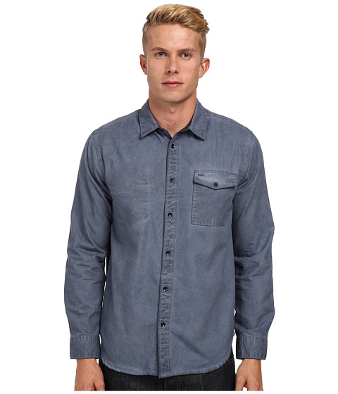 KR3W - New Breed L/S Shirt (Blue) Men