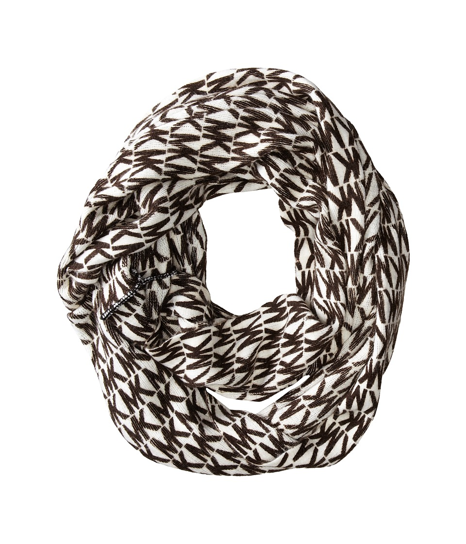 MICHAEL Michael Kors - MK Repeat Logo Large Printed Infinity (Cream/Chocolate) Scarves