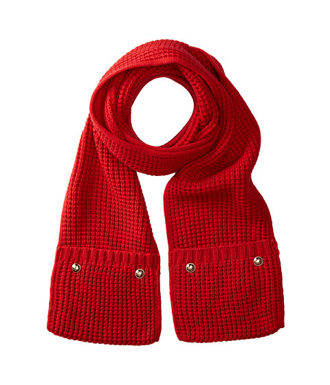 Accessories-MICHAEL Michael Kors Pocket Scarf (Red Blaze) Scarves