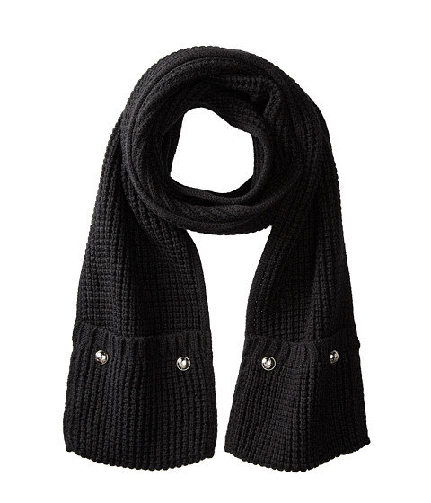 MICHAEL Michael Kors - Pocket Scarf (Black) Scarves
