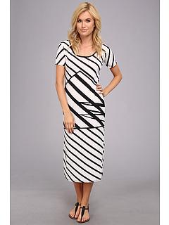 SALE! $17.99 - Save $30 on Ninety Short Sleeve Stripe Dress (Black White) Apparel - 62.52% OFF $48.00