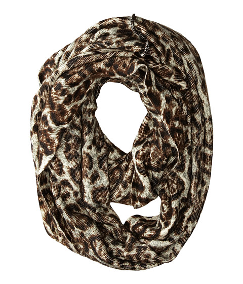 MICHAEL Michael Kors - Leopard Print Large Infinity (Chocolate) Scarves