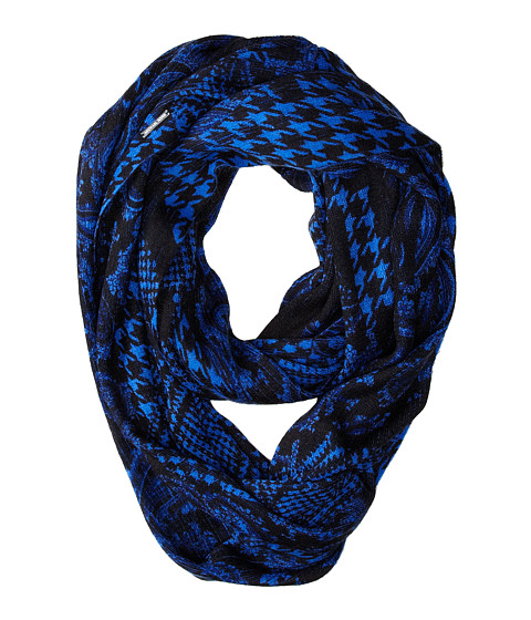 MICHAEL Michael Kors - Foulard Crush Print Large Infinity (Amalfi Blue) Scarves