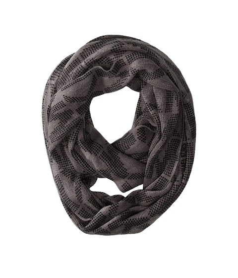 MICHAEL Michael Kors - Jumbo Logo Repeat (Black/Pearl/Heather Gray) Scarves