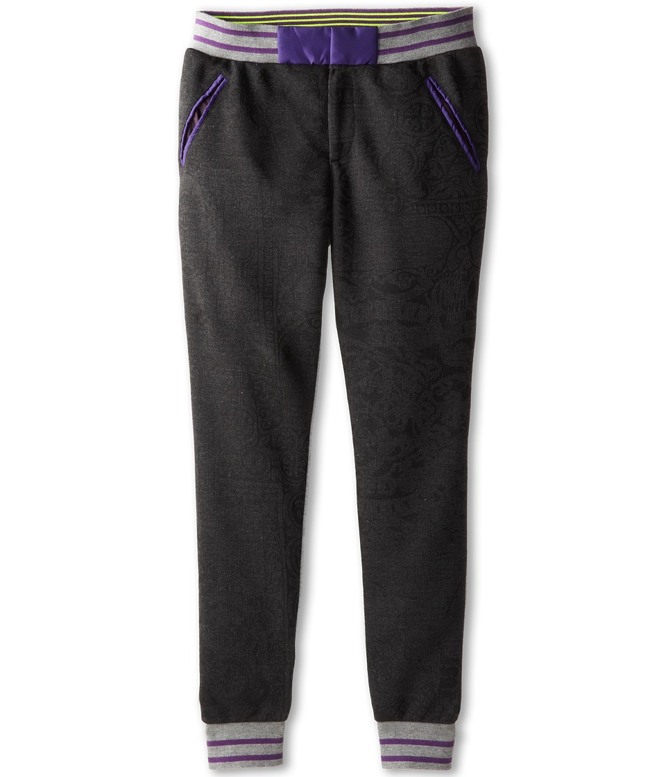 Roberto Cavalli Kids - Knitted Front Panel and Fleece Back Pants (Big Kids) (Dark Grey) Boy's Casual Pants