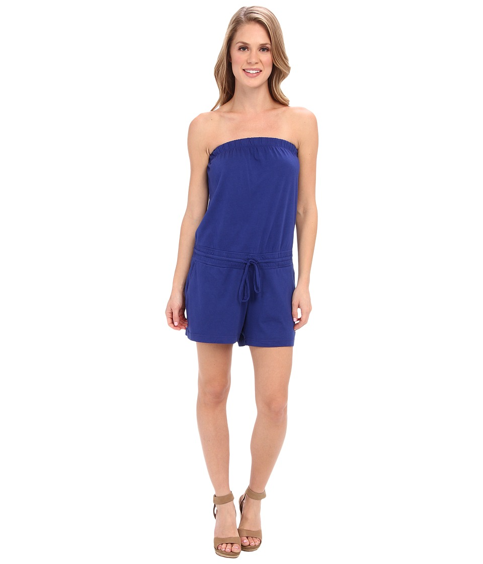 Allen Allen - Modal Jersey Strapless Waist Romper (New Blue) Women's Jumpsuit & Rompers One Piece