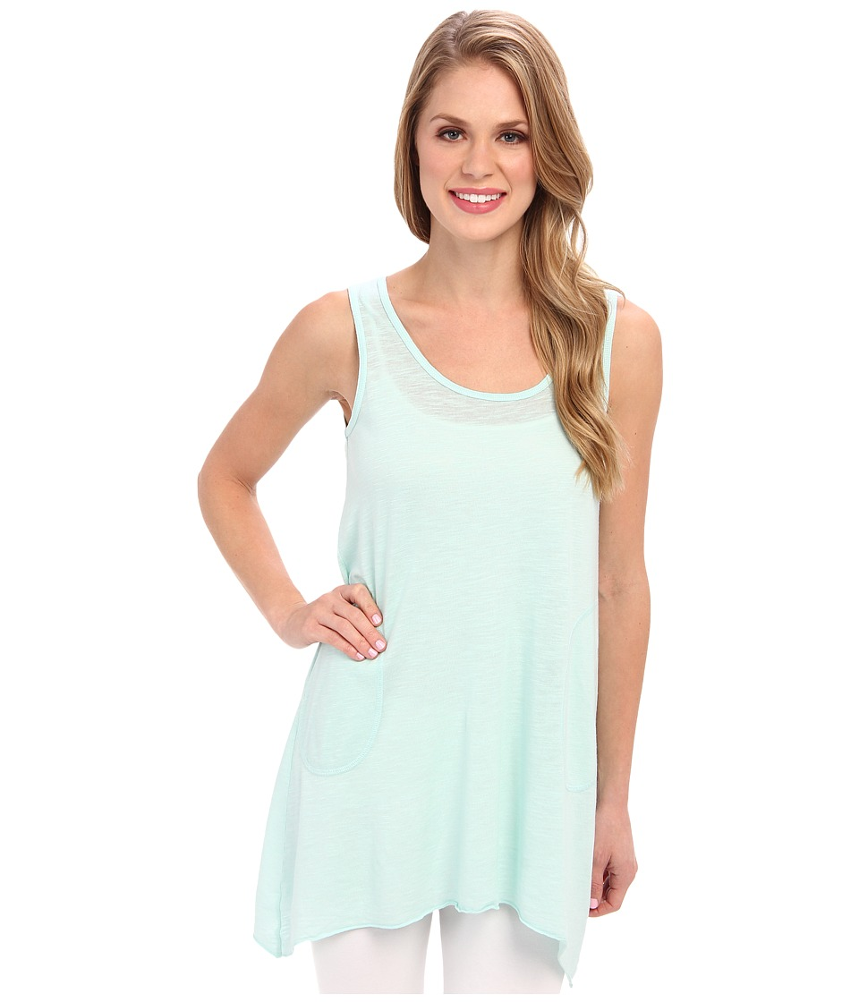 Allen Allen - Scoop Neck Angled Tunic (Sea Breeze) Women's Sleeveless