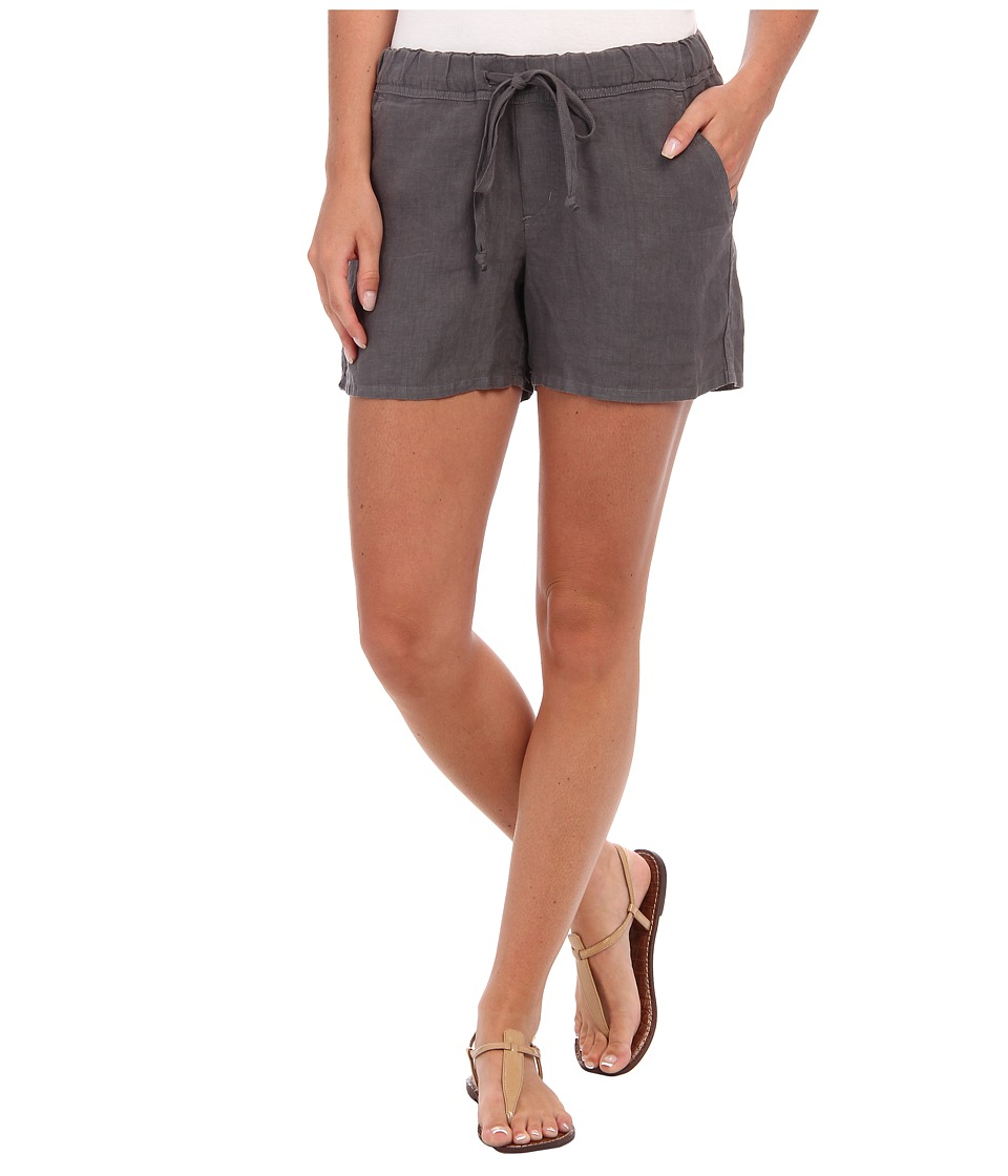 Allen Allen - Drawstring Back Pocket Short (Dark Grey) Women's Shorts