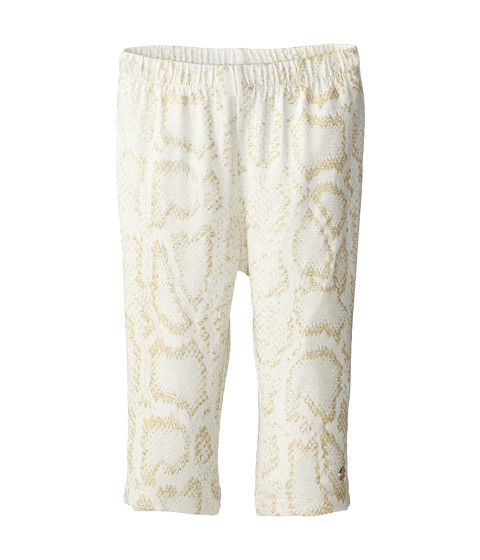 Roberto Cavalli Kids - Lurex Snake Print Leggings (Infant 2) (Off White/Gold) Girl's Casual Pants
