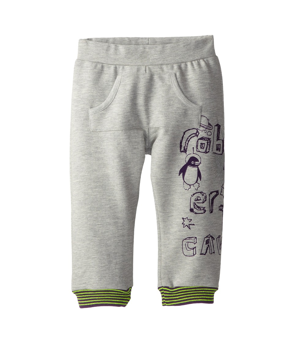 Roberto Cavalli Kids - Flock Side Print Fleece Jogging Pant (Infant 2) (Grey) Boy's Casual Pants