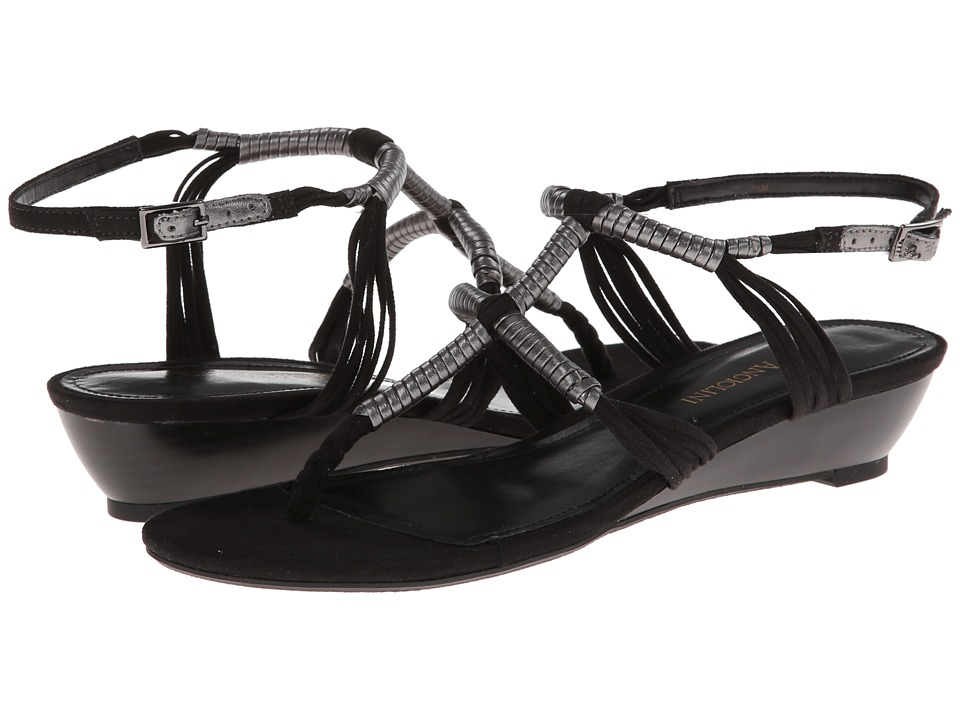 Enzo Angiolini Khanna (Black/Pewter Fabric) Women's Sandals