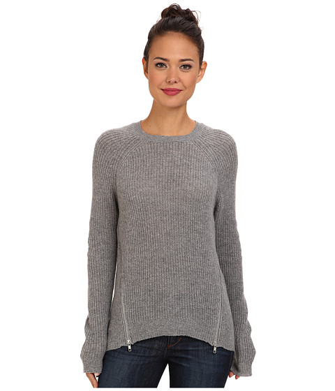 Autumn Cashmere - Shaker Stitch Raglan (Cement) Women's Clothing