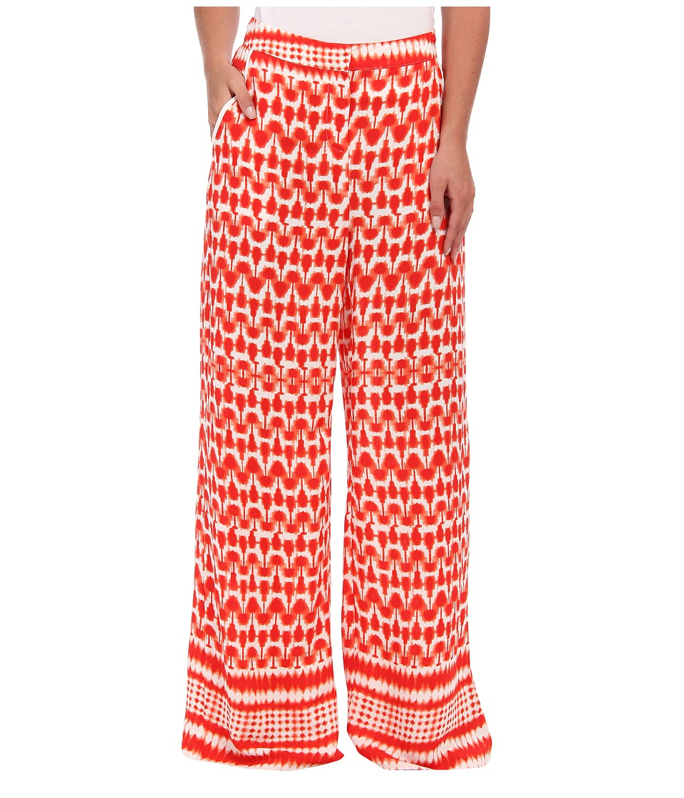 Aryn K - Printed Palazzo Pant (Coral/White) Women's Casual Pants