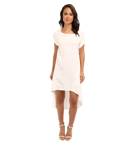 Aryn K - Mix Media T-Shirt Dress (White) Women's Dress