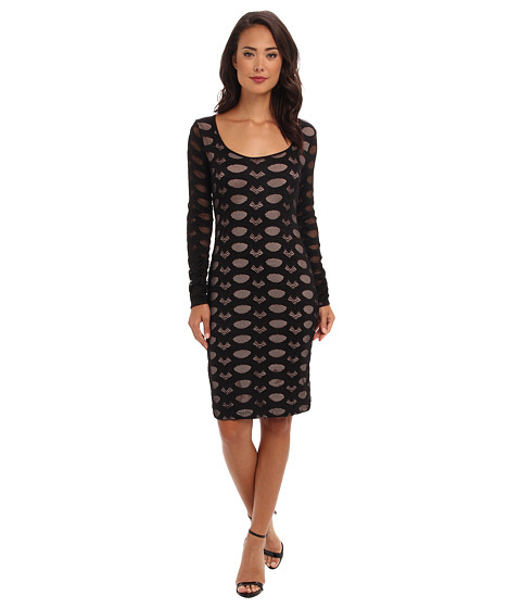 BCBGMAXAZRIA - Tanya Stretch Lace Dress (Black) Women