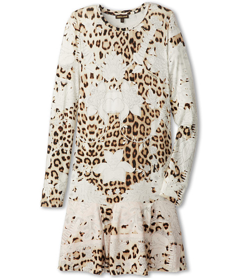 Roberto Cavalli Kids - Leopard and Soft Pink Floral Print Dress (Big Kids 2) (Rose/Leopard) Girl's Dress