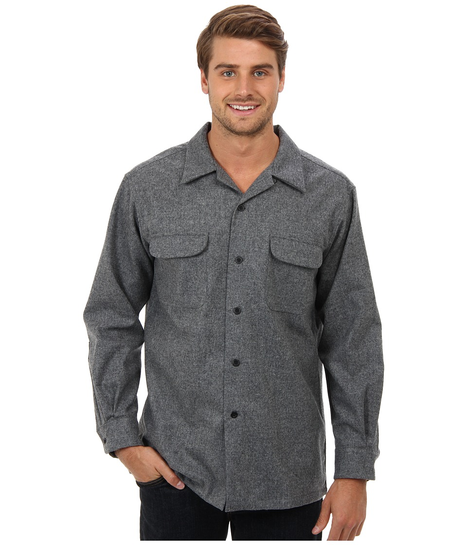 Pendleton - L/S Board Shirt (Grey Solid Mix) Men's Long Sleeve Button Up