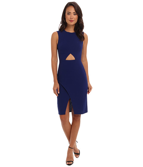 BCBGMAXAZRIA - Annabel Waist Cutout Dress (Deep Royal Blue) Women