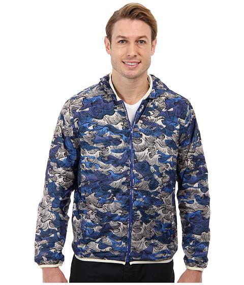Gant Rugger - R. Ocean Camo Hoodie (Dark Cobalt) Men's Coat