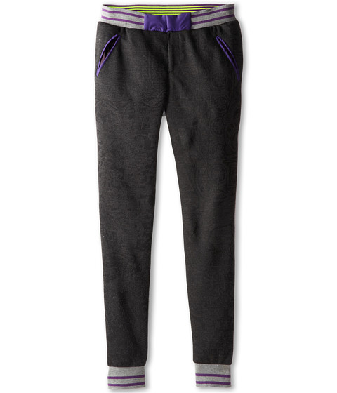 Roberto Cavalli Kids - Knitted Front Panel and Fleece Back Pants (Big Kids 2) (Dark Grey) Boy
