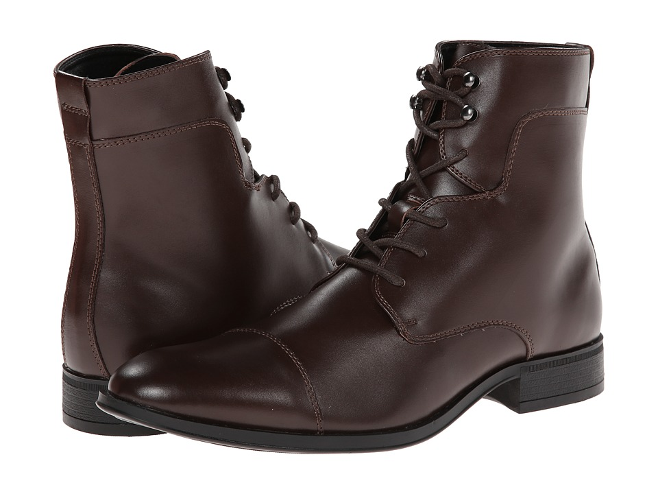 Robert Wayne - Jonah (Dark Brown) Men's Lace-up Boots