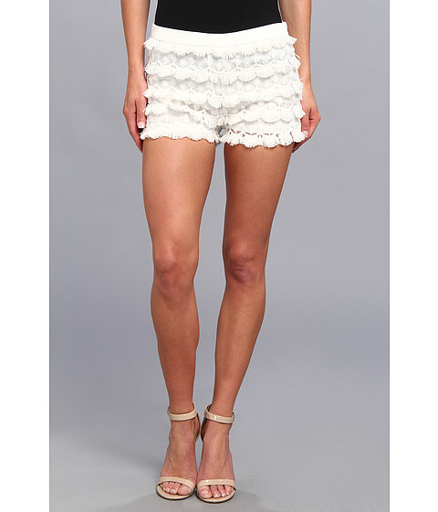 Gabriella Rocha - Lace Fringe Short (White) Women