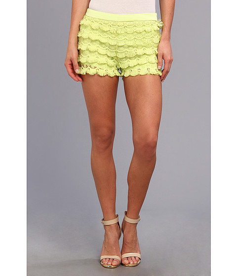 Gabriella Rocha - Lace Fringe Short (Lime Green) Women's Shorts