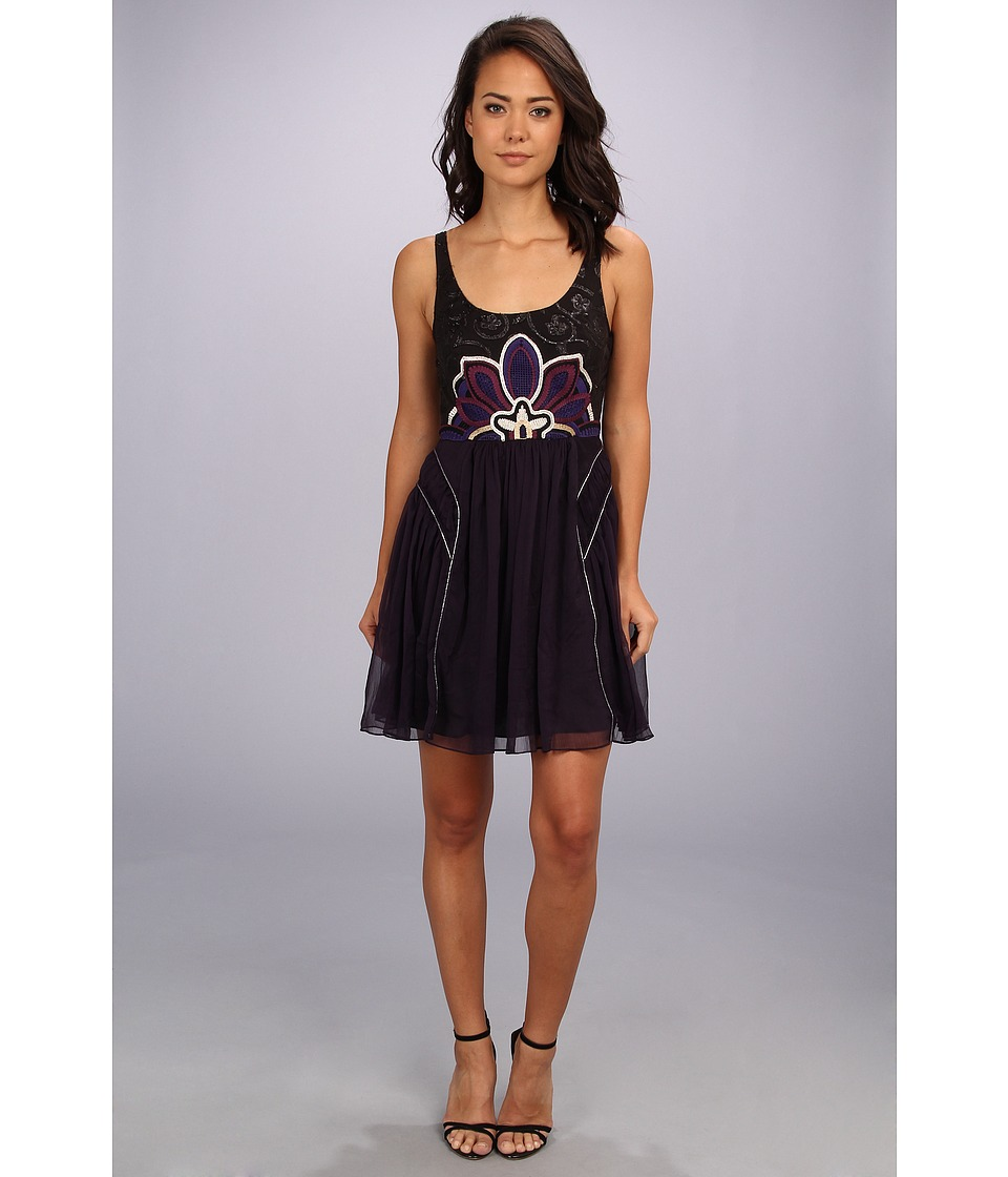 Free People - Lotus Pond Dress (Purple) Women's Dress
