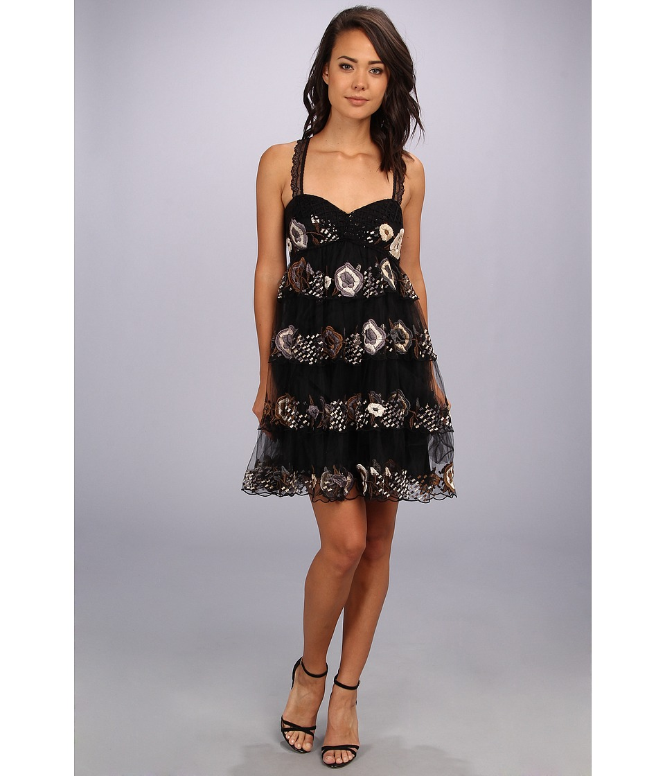 Free People - Rambling Rose Party Dress (Black Combo) Women's Dress