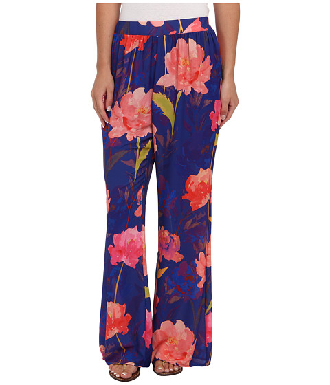 Gabriella Rocha - Holly Floral Pants (Royal) Women's Casual Pants