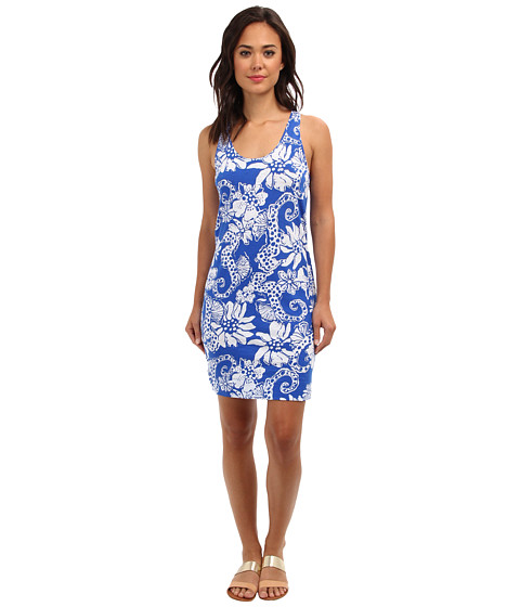 Lilly Pulitzer - Shore Racerback Tank Dress (Deep Sea Blue Quahog Chowdah) Women