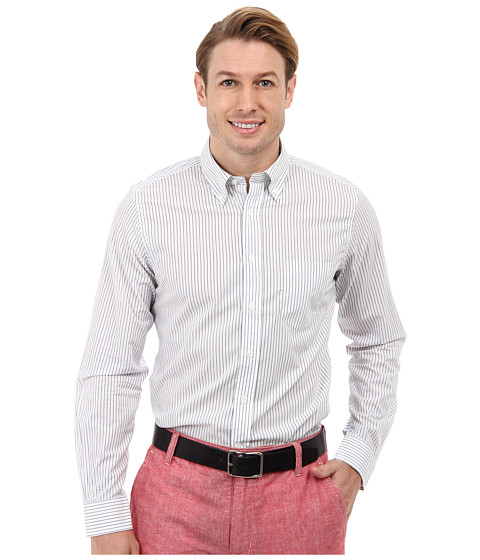 Gant Rugger - R. Imported Fabric Pinstripe Hugger Original Button Down (Laundered Blue) Men's Long Sleeve Button Up