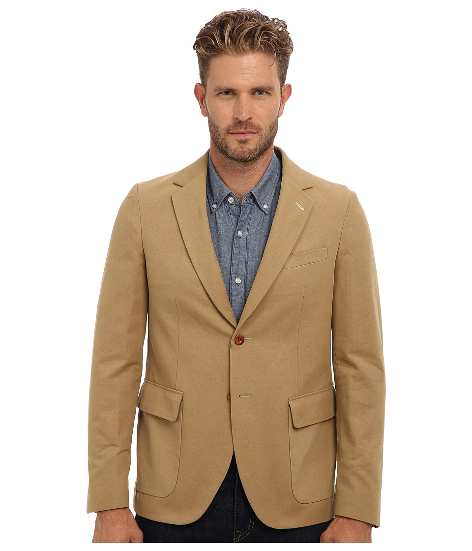 Gant Rugger - R. Canvas Unconstructed Blazer (Macchiato Beige) Men