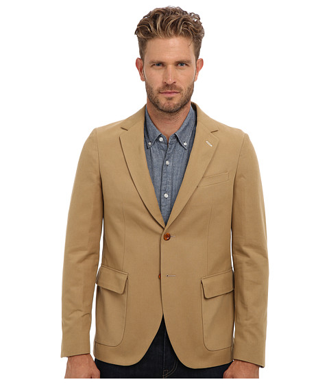 Gant Rugger - R. Canvas Unconstructed Blazer (Macchiato Beige) Men's Jacket